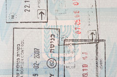 Stamps in an Israeli passport Royalty Free Stock Photography