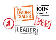Stamps for leaders of sales Stock Image