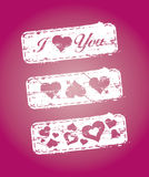 Stamps on love subjects Stock Photo
