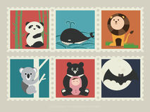 Stamps of mammal animal 1 Royalty Free Stock Images