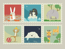 Stamps of mammal animal 2 Royalty Free Stock Photo