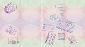 Stamps On A Passport stock video