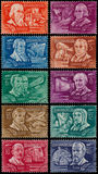 Stamps printed by Hungary shows Inventors and Explorers Royalty Free Stock Image