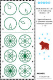 Stamps and prints picture puzzle Stock Photography