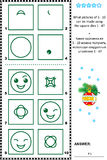 Stamps and prints picture puzzle Stock Photo