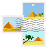 Stamps pyramids egypt. Illustration of egypt pyramids postage stamps used Royalty Free Illustration