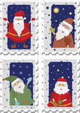 Stamps with Santa Royalty Free Stock Photos