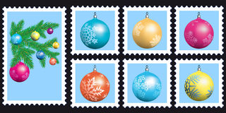 Stamps set. Set of a vector postage stamps icons Stock Photography