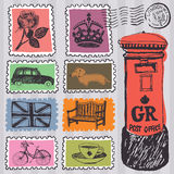 Stamps set Stock Photo