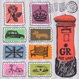 Stamps set vector illustration