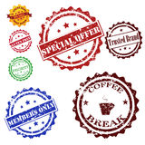 Stamps set vector collection Royalty Free Stock Image