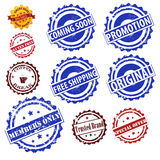 Stamps set vector collection. Modern Grunge Stamps set vector collection isolated on white background royalty free illustration