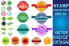 Stamps set vector collection Royalty Free Stock Photos