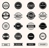 Stamps set. Vector commercial stamps set in vintage style for business and design Stock Images