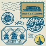 Stamps set Stock Photos