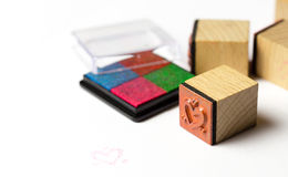 Stamps. Smal stamps with colour ink Royalty Free Stock Photography