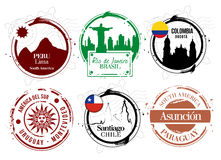Stamps South America Royalty Free Stock Photo