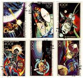 Stamps with the space theme Stock Images