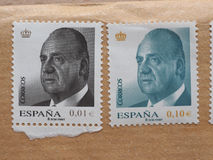 Stamps of Spain Royalty Free Stock Photos