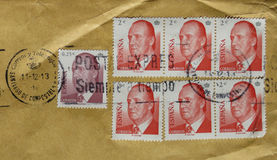 Stamps of Spain Royalty Free Stock Photo