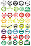 Stamps and stickers Royalty Free Stock Photography
