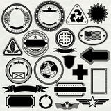 Stamps Templates. Blank Stamps templates for your design, vector elements separated Royalty Free Stock Photography