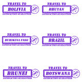 Stamps travel to Stock Images