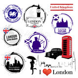Stamps of United Kingdom Stock Photography