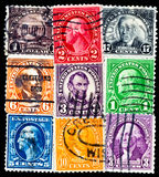 Stamps with US presidents Royalty Free Stock Photos