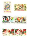 Stamps: US stamps - Season's Greetings Stock Photos