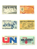 Stamps: US vintage stamps 6 cent Stock Images