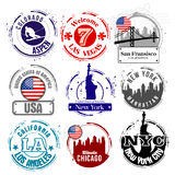Stamps USA Stock Photos