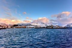 Stamsund, Lofoten Islands, Norway Royalty Free Stock Photos