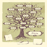 stamträd stock illustrationer