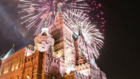 Stanów fajerwerki i moscow Rosji zdjęcie wideo