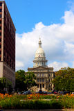 Stanów kwiaty i Capitol Fotografia Royalty Free