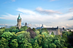 Stanów Savings bank, Luksemburg Obrazy Royalty Free