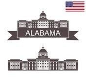 stan alabama Alabama stanu Capitol w Mongomery ilustracja wektor
