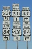 Stan autostrady znaki obraz royalty free