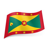Stan flaga Grenada Fotografia Stock