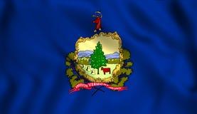 Stan flaga Vermont ilustracji