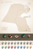 Stan Kuwejt ilustracji