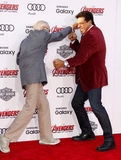 Stan Lee and Lou Ferrigno Royalty Free Stock Photo