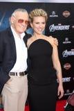 Stan Lee, Scarlett Johansson stockfoto