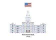 Stan Michigan Capitol, Lansing ilustracja wektor