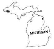 Stan Michigan i data royalty ilustracja