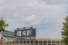 Stan Michigan uniwersyteta spartan stadium obraz royalty free