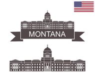 Stan Montana Montana stanu Capitol w Helena ilustracja wektor