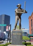 Stan Musial Statue, Outside Busch Stadium St. Louis Stock Photos