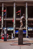 Stan Musial Statue outside Old Busch Stadium. Royalty Free Stock Images